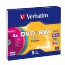 Verbatim DVD+RW Colours 4.7GB DVD+RW 5pezzo(i) cod. 43297