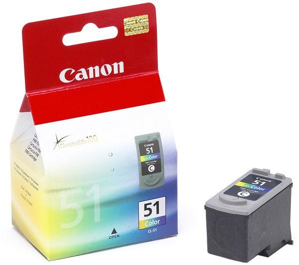 Canon CL-51 cartuccia d'inchiostro Original Ciano, Magenta, Giallo 1 pezzo(i) cod. 0618B001