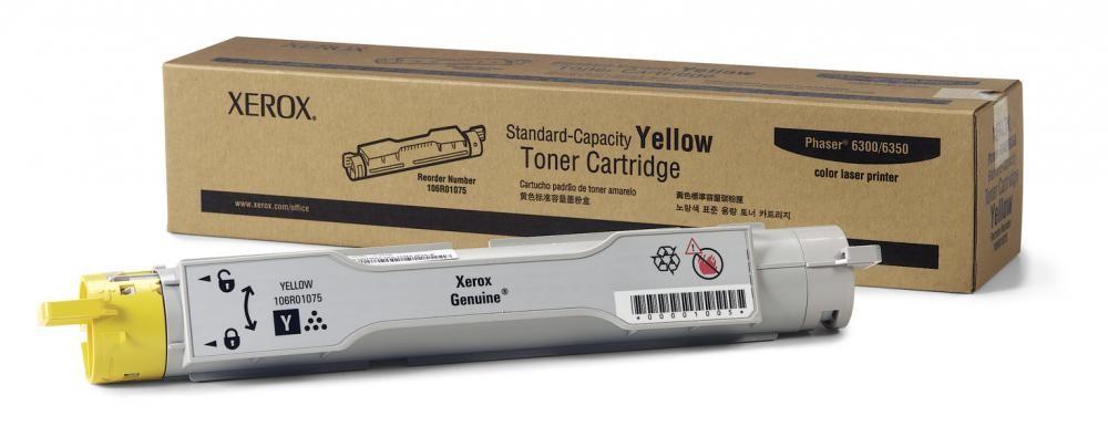 Xerox Cartuccia toner capacità standard giallo, Phaser 6300/6350 cod. 106R01075