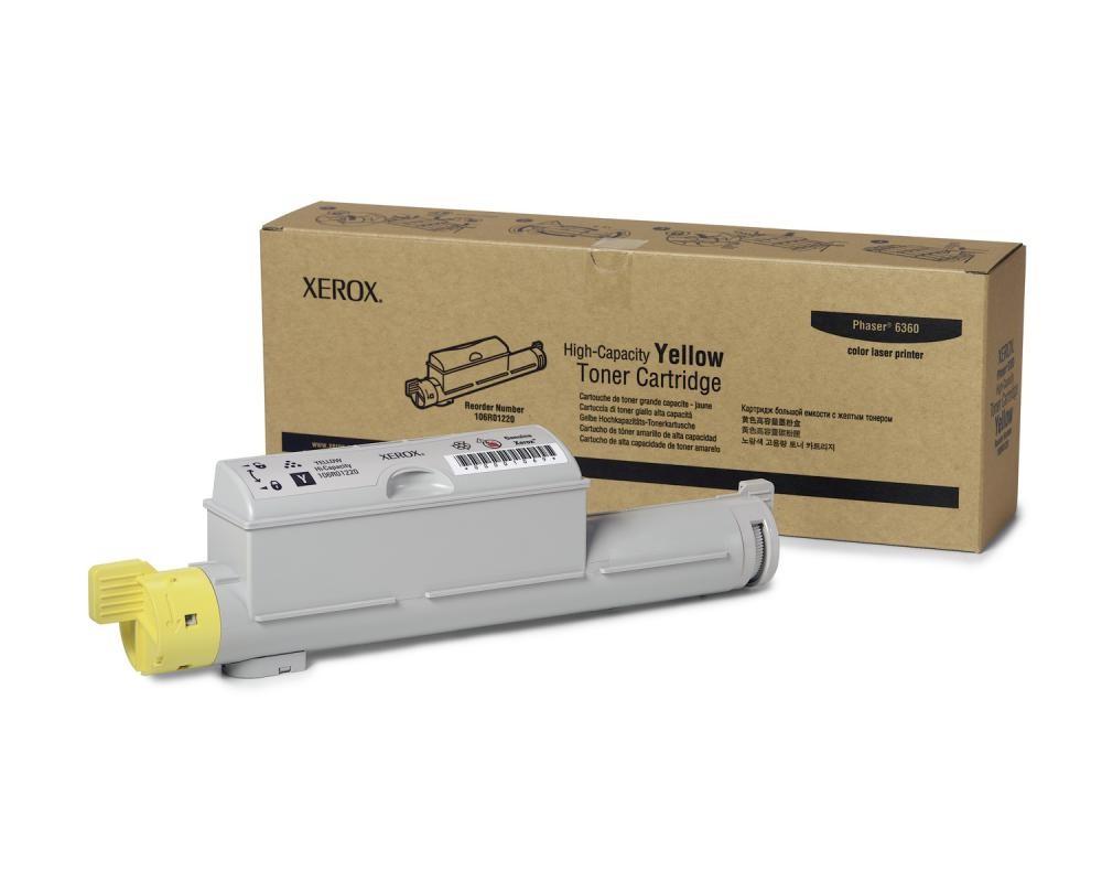 Xerox Cartuccia Toner Alta Capacità Giallo, Phaser 6360 cod. 106R01220