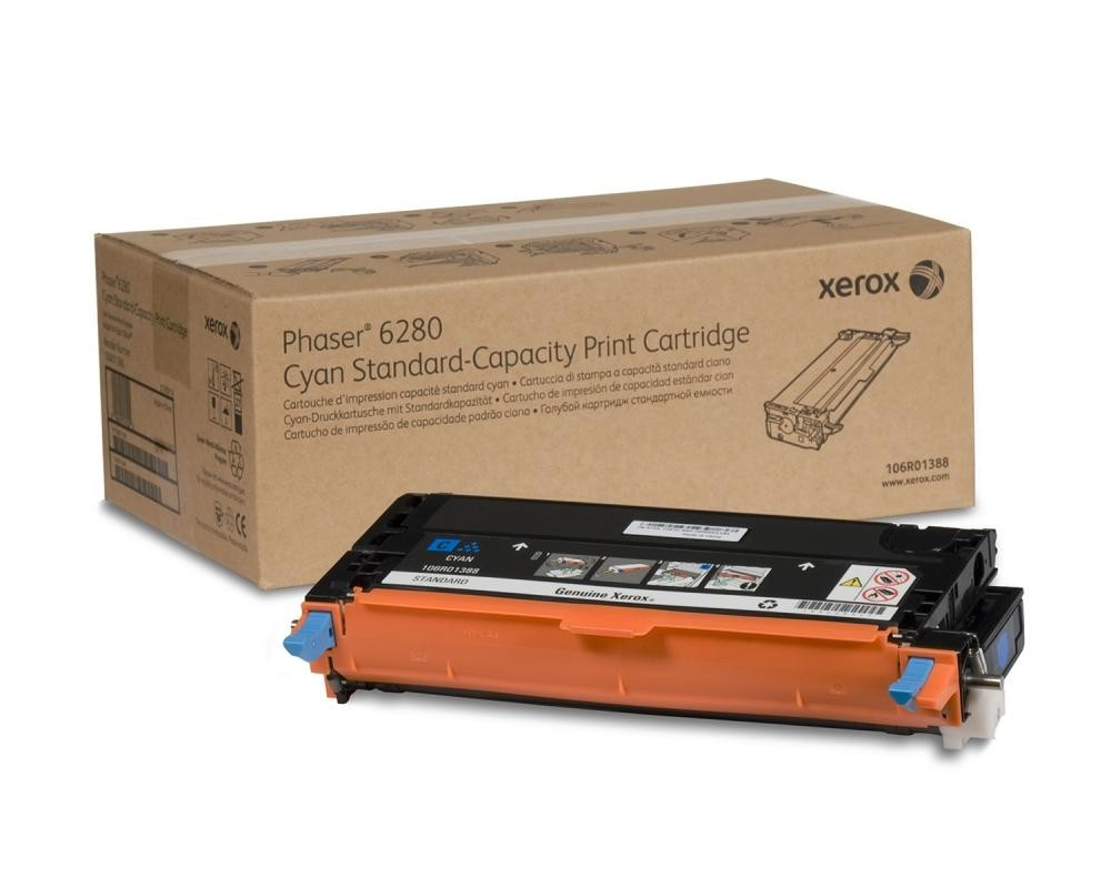 Xerox Standard Capacity Cyan Toner Cartridge (2,200 Pages) - 106R01388
