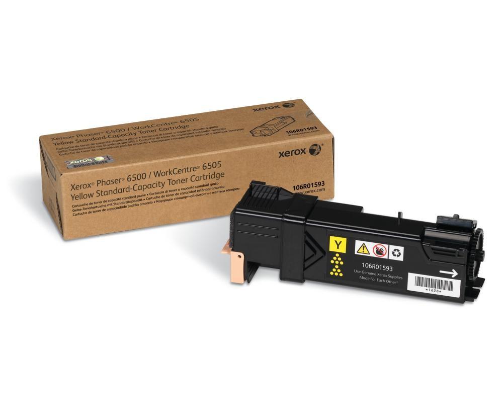 Xerox Phaser 6500/WorkCentre 6505, Cartuccia toner giallo capacità standard (1.000 pagine) cod. 106R01593