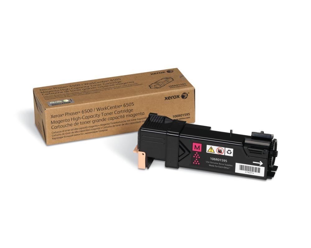 Xerox Phaser 6500/WorkCentre 6505, Cartuccia toner magenta ad alta capacità (2.500 pagine) cod. 106R01595