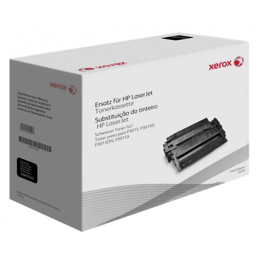 Xerox Cartuccia toner nero. Equivalente a HP CE255X. Compatibile con HP LaserJet M525 MFP, LaserJet P3010, LaserJet P3015, LaserJet P3016 cod. 106R01622