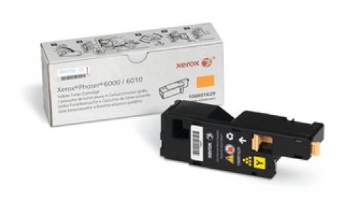 Xerox Phaser 6000/6010 / Workcentre 6015, Cartuccia toner giallo capacità standard (1.000 pagine) cod. 106R01629