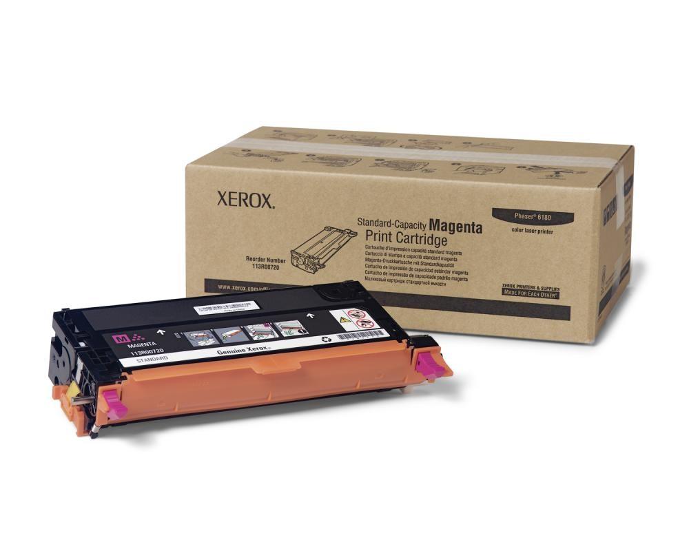 Xerox Cartuccia Stampa Capacità Standard Magenta, Serie Phaser 6180 cod. 113R00720