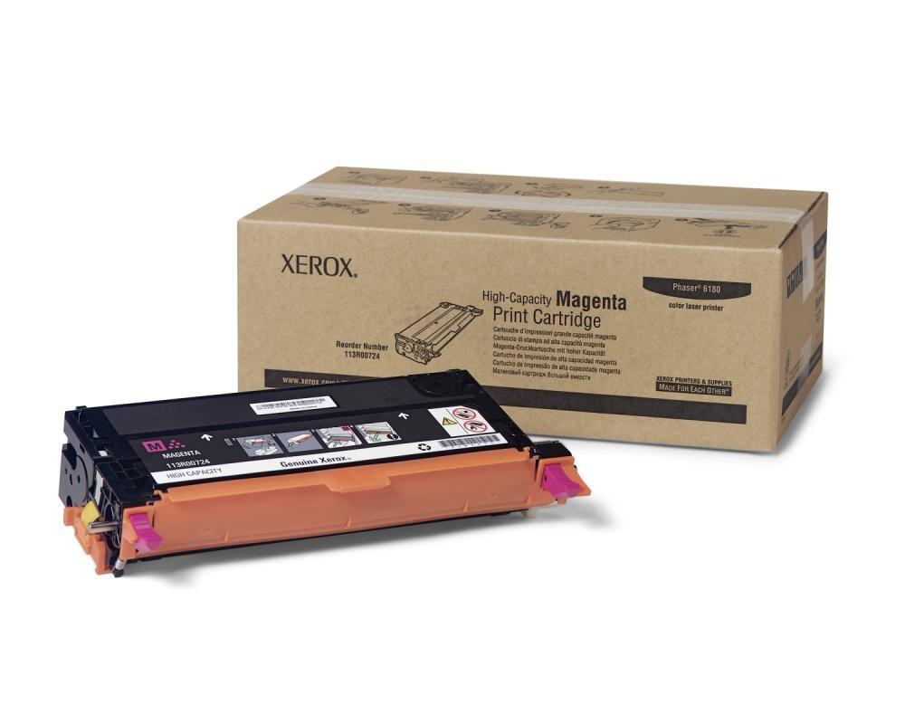 Xerox Cartuccia Stampa Alta Capacità Magenta, Serie Phaser 6180 cod. 113R00724