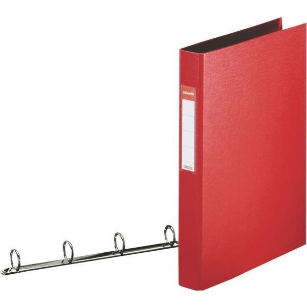Esselte Standard Ring Binders , PP Red 4x25 mm raccoglitore ad anelli Rosso cod. 14459
