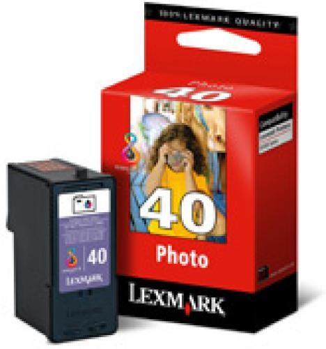 Lexmark Nr. 40 Photo Print Cartridge Original Nero per foto 1 Cartridge cod. 18Y0340E