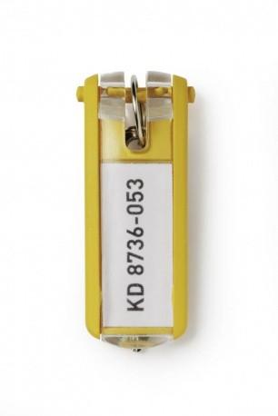 Durable Key Clip Giallo 6 pezzo(i) cod. 195704