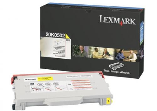 Lexmark 20K0502 cartuccia toner Original Giallo 1 pezzo(i) cod. 20K0502