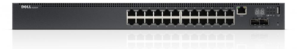 DELL PowerConnect N2024 Gestito L3 Gigabit Ethernet (10/100/1000) Nero 1U cod. 210-ABNV