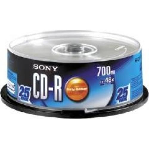 Sony 25CDQ80SP CD vergine 700 MB cod. 25CDQ80SP
