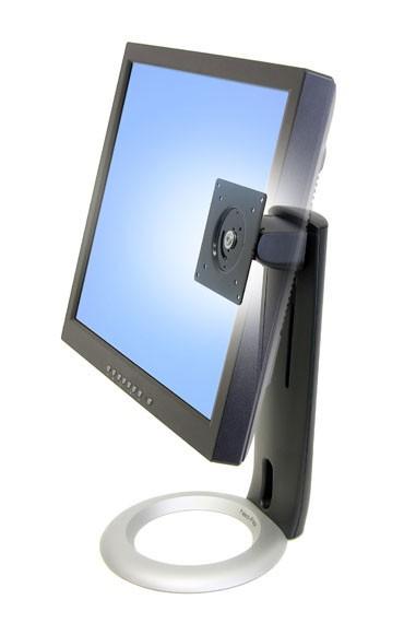 """Ergotron Supporto Neo-Flex da tavolo (nero con base silver) per LCD fino a 24"""". Solleva (fino a 5"""" - 13cm), inclina (fino a 30°), ruota sx/dx (fino a 270°) e ruota P/L (fino a 90°) - 33-310-060"""