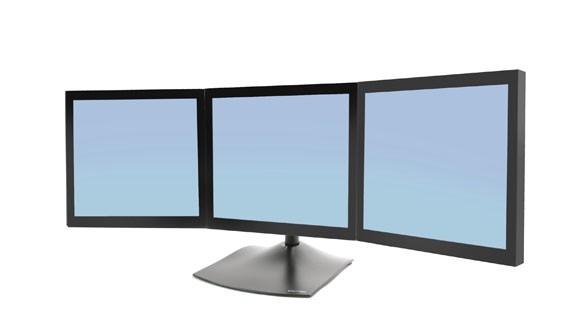 """Ergotron DS Series DS100 Triple Monitor Desk Stand 53,3 cm (21"""") Nero cod. 33-323-200"""