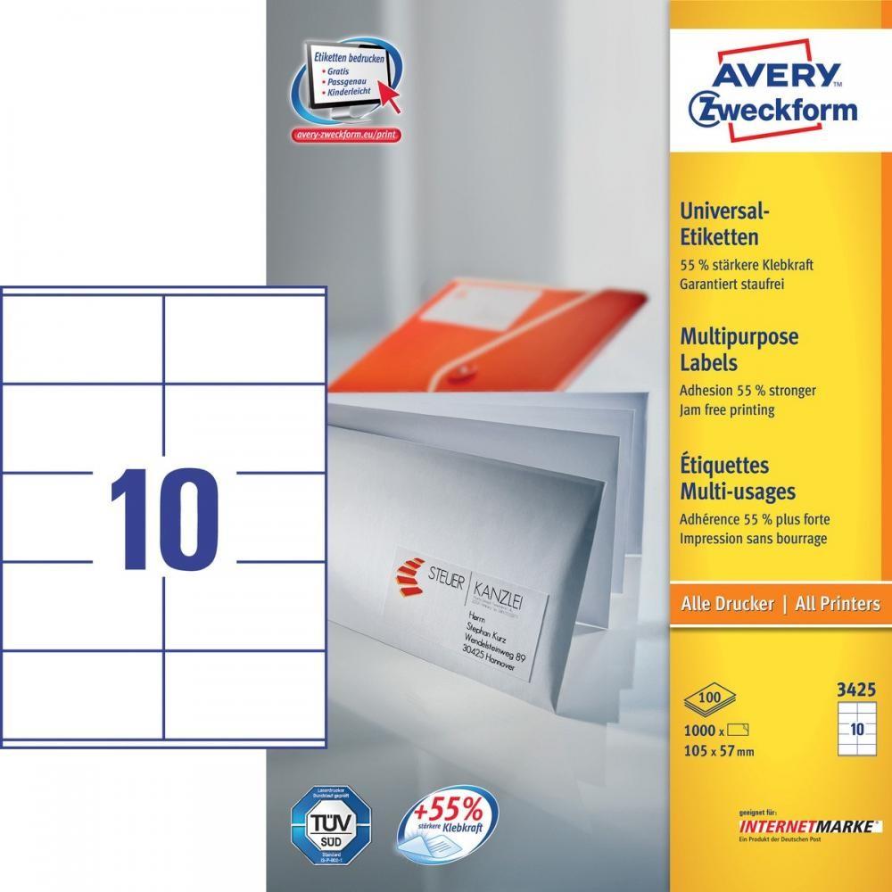 Avery 3425 etichetta per stampante Bianco Etichetta per stampante autoadesiva cod. 3425