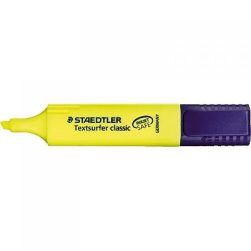 Staedtler Evidenziatore Textsurfer Classic giallo   punta a scalpello ca. 15 mm inchiostro resistente alla luce chiusura a scatto (Cof. 10 pz) - 364-1