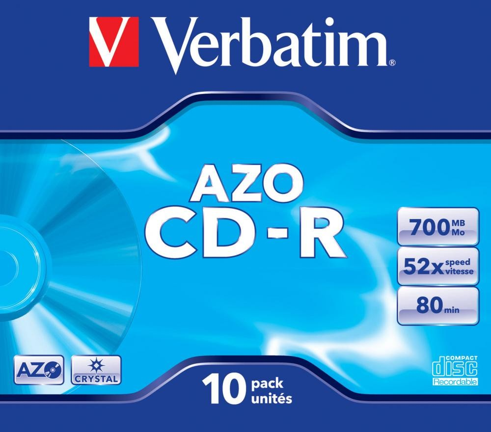 Verbatim CD-R AZO Crystal 700 MB 10 pezzo(i) cod. 43327