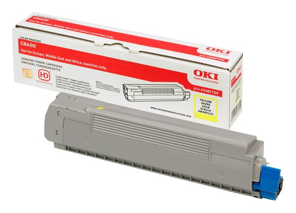 OKI Yellow Toner Cartridge for C8600 - 43487709