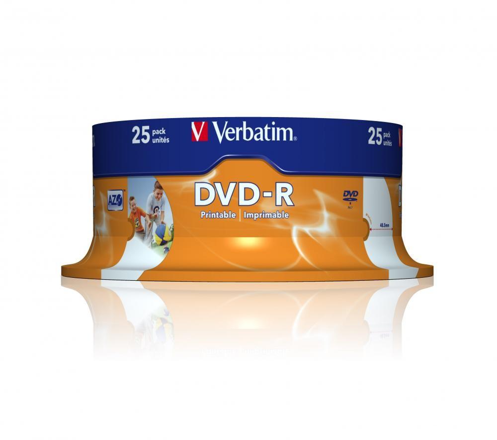 Verbatim DVDR VERBATIM 16X PRINTABLE 25 PK SPINDLE - 43538