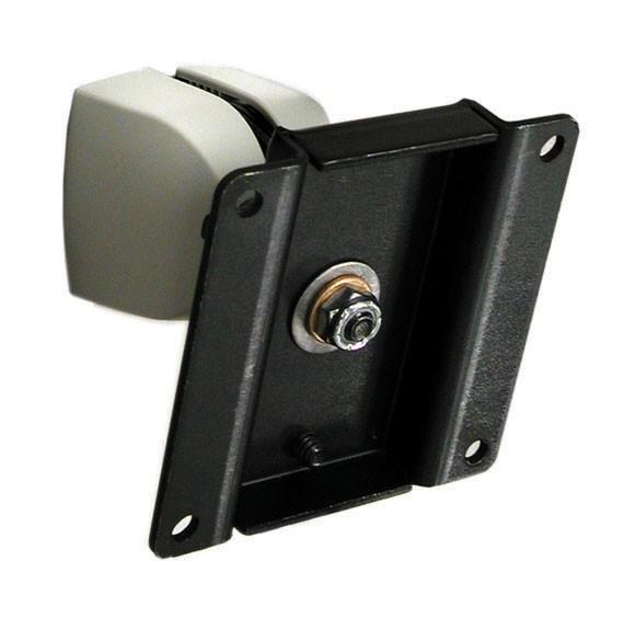 """Ergotron Supporto serie 100, montaggio diretto a parete, snodo singolo (nero/grigio) per LCD inf. 24"""". Inclina (fino a 180°) e ruota P/L (fino a 360°) - raccomandato anche 97-101-003 - 47-092-800"""