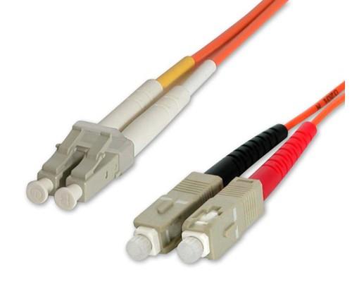 StarTech.com Cavo patch duplex in fibra multimodale 50/125 2 m LC - SC cod. 50FIBLCSC2