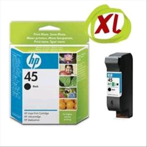 HP 45 Large Black Inkjet Print Cartridge - 51645AE