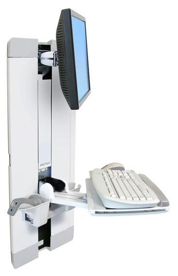 "Ergotron StyleView Vertical Lift, Patient Room 61 cm (24"") Bianco cod. 60-609-216"