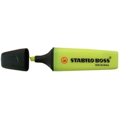 Stabilo Evidenziatore Stabilo Boss Original  giallo ricaricabile  di lunga durata  fuoroscente universale (conf.10) - 70/24