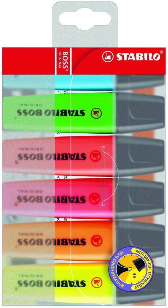 STABILO BOSS Original evidenziatore 6 pezzo(i) Multi cod. 70/6