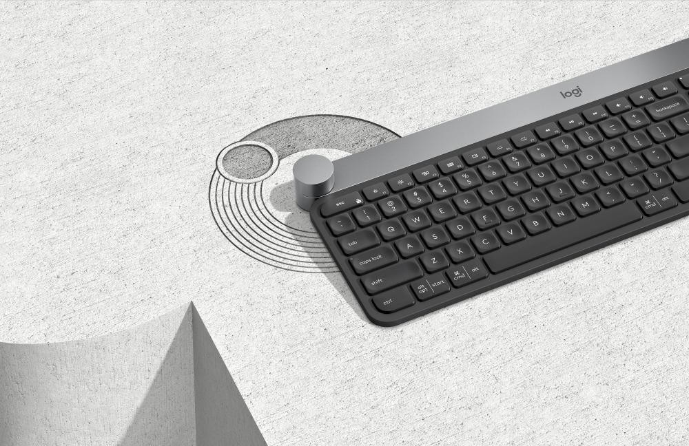 Logitech Craft tastiera RF Wireless + Bluetooth QWERTY Italiano Nero, Grigio cod. 920-008500