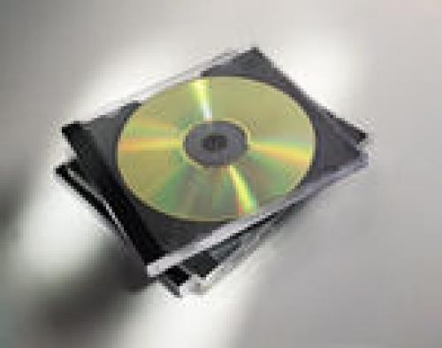 Fellowes 98305 custodia CD/DVD Custodia Jewel 1 dischi Nero, Trasparente cod. 98305