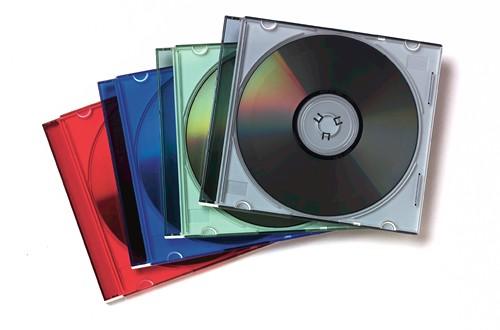 Fellowes 98317 custodia CD/DVD Custodia Jewel 1 dischi Multicolore cod. 98317