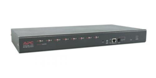APC 8 Port Multi-Platform Analog KVM switch per keyboard-video-mouse (kvm) Montaggio rack cod. AP5201