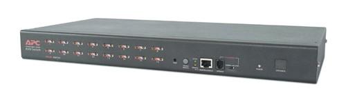 APC 16 Port Multi-Platform Analog KVM switch per keyboard-video-mouse (kvm) Montaggio rack Nero cod. AP5202