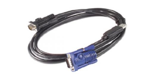 APC AP5253 cavo per tastiera, video e mouse Nero 1,83 m cod. AP5253