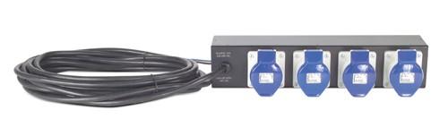 APC Rack PDU Extender, Basic, 2U, 32A, 230V, (4) IEC 309-32 unità di distribuzione dell'energia (PDU) Nero 4 presa(e) AC cod. AP7586