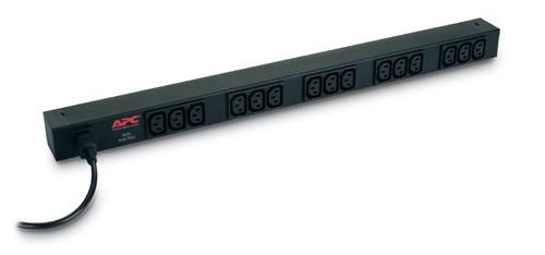 APC RACK PDU BASIC ZERO U 10A 230V unità di distribuzione dell'energia (PDU) Nero cod. AP9568