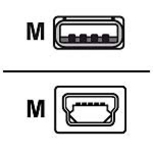 Zebra USB-A to USB mini-B Cable cavo USB 1 m USB A Mini-USB B cod. AT17010-1