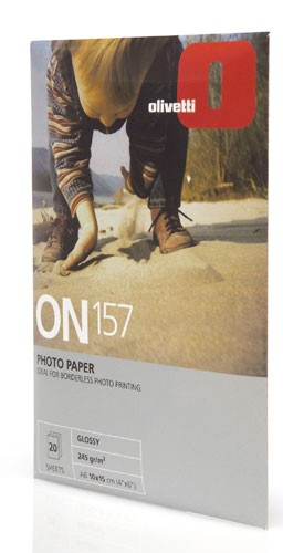 Olivetti Photo paper 10x15cm glossy finish 20-sheet pack carta fotografica cod. B0502