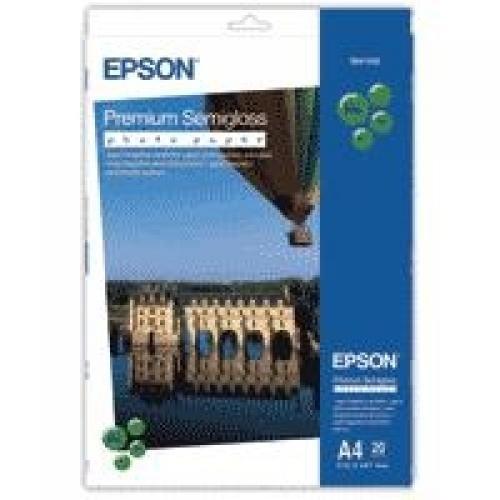 Epson Premium Semi-Gloss Photo Paper - A4 - 20 Fogli cod. C13S041332