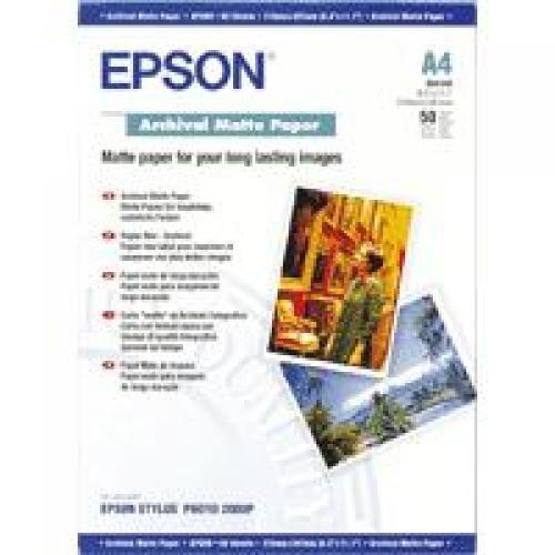Epson Archival Matte Paper - A4 - 50 Fogli cod. C13S041342