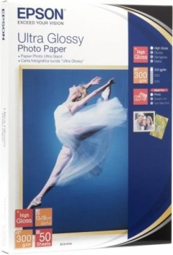 Epson Ultra Glossy Photo Paper - 13x18cm - 50 Fogli cod. C13S041944