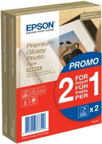 Epson Premium Glossy Photo Paper - 10x15cm - 2x 40 Fogli cod. C13S042167