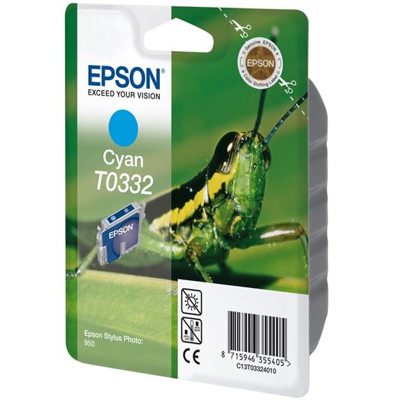 Epson T0332 Cyan Ink Cartridge (Grasshopper) - C13T03324010