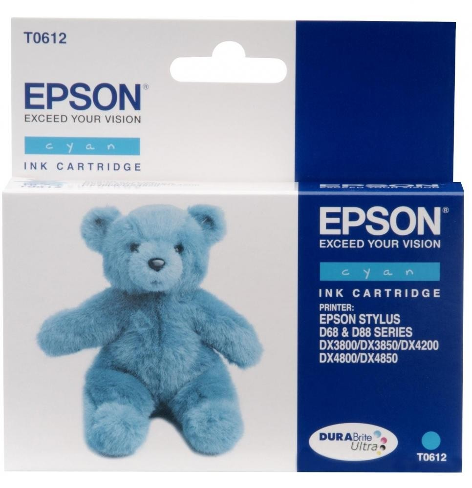 Epson T061 Cyan Ink Cartridge cartuccia d'inchiostro Original Ciano cod. C13T061240