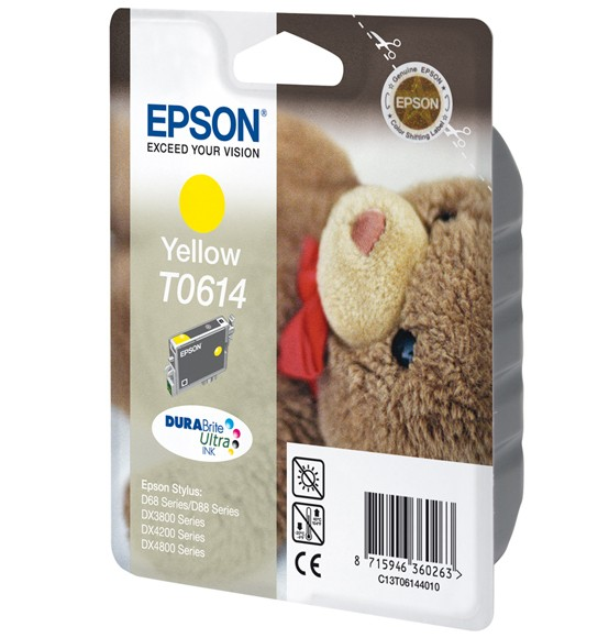 Epson Teddybear Cartuccia Giallo cod. C13T06144010