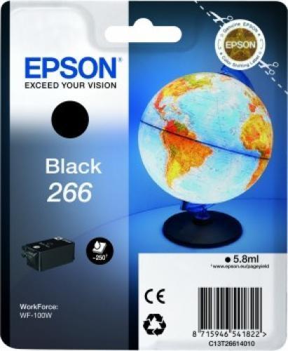 Epson Globe Singlepack Black 266 ink cartridge cod. C13T26614020