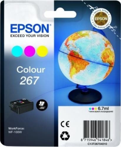 Epson Singlepack Colour 267 ink cartridge cod. C13T26704010