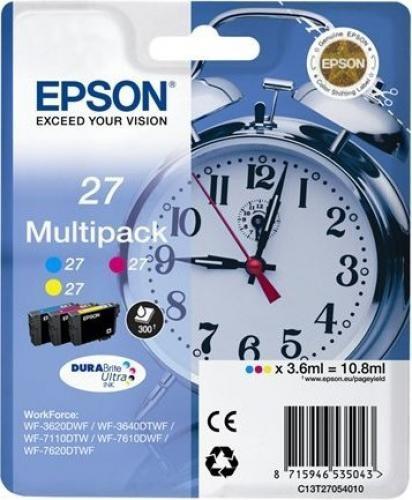 Epson Alarm clock 27 DURABrite Ultra Multi-pack Original Ciano, Magenta, Giallo Multipack 3 pezzo(i) cod. C13T27054020